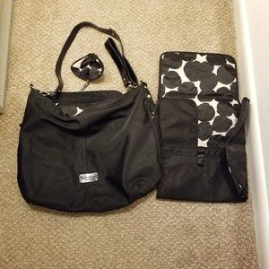 3 Pc Kate Spade Large Diaper Bag Set School/gym Bag Bag&Changing pad&Coin pouch